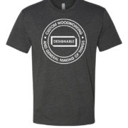 short sleeve crew neck tshirt in charcoal with white designable logo