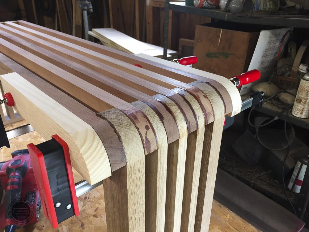 designable slat table leg joint detail before shaping