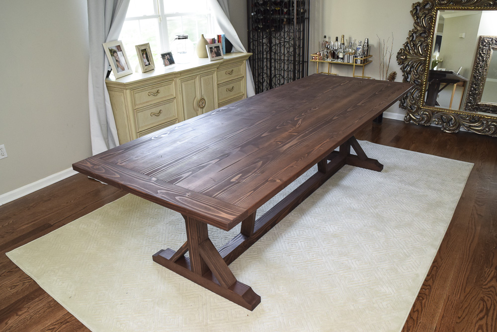 modern farmhouse table. Modern Rustic Farmhouse Table Made Of Fir With Brown Finish N