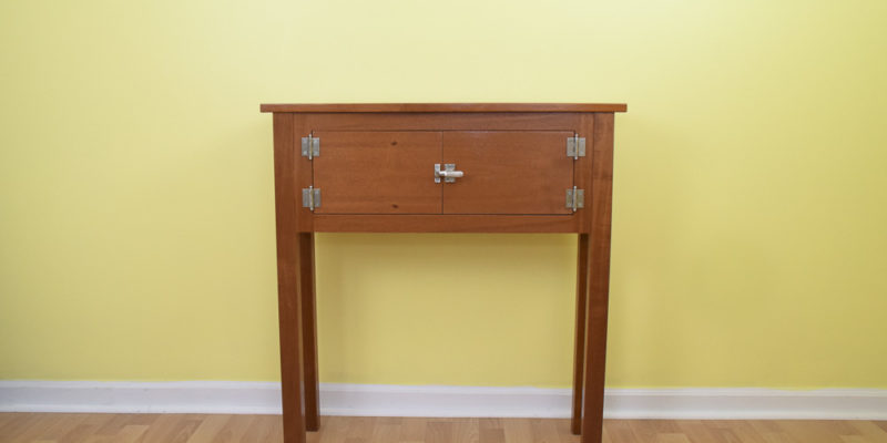Mahogany Icebox Cabinet Side Table