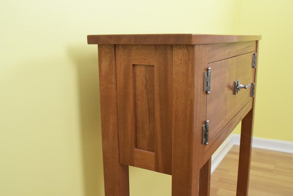 designable mahogany icebox side view