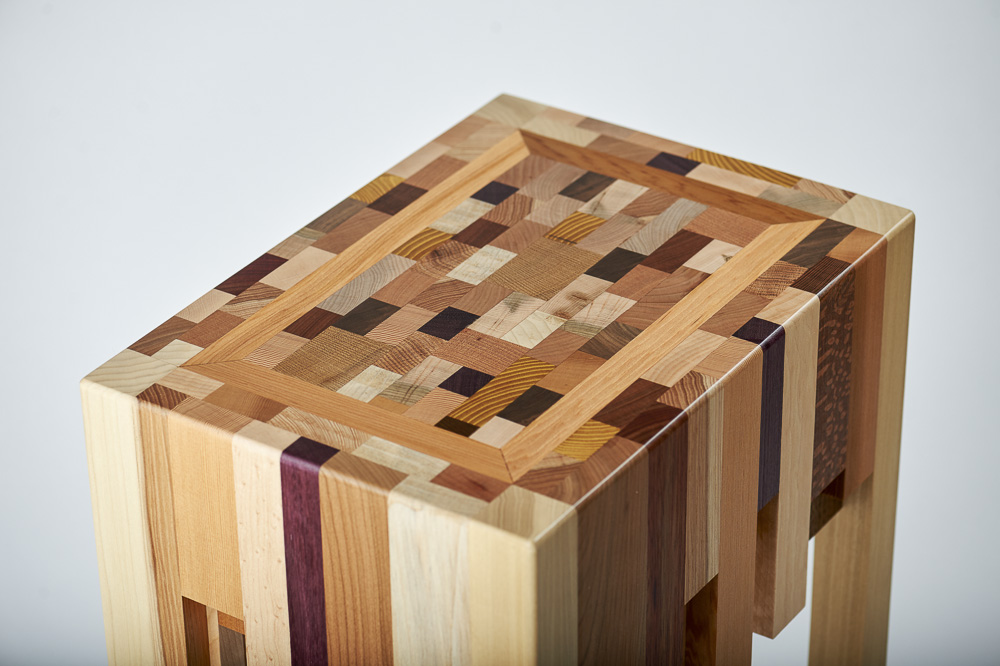 Scrap Wood End Grain End Table Designable Makes