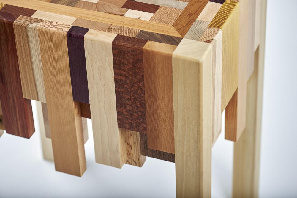 Scrap Wood End Grain End Table Designable Makes