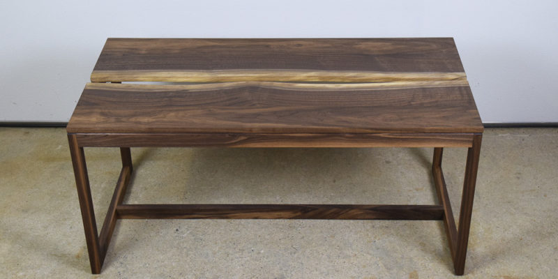 Walnut Crevice Coffee Table