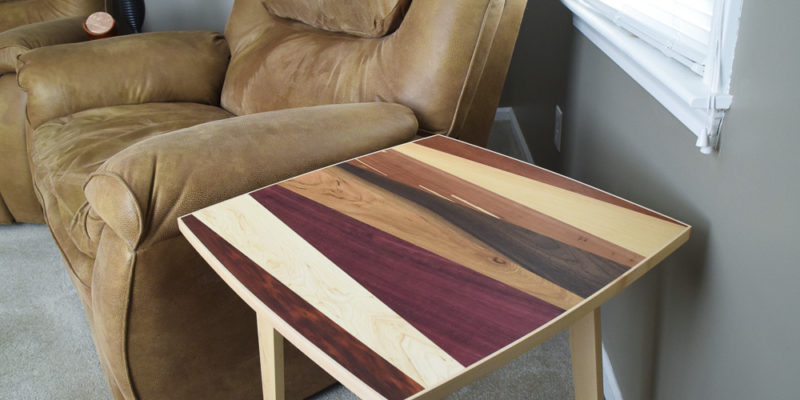 Multiple Wood Species End Table