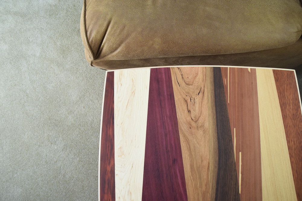 designable multiple wood species end table