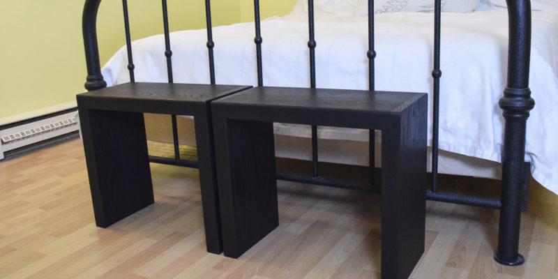 Modern Oak Entryway Sitting Benches